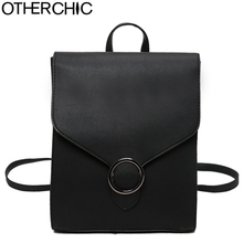 OTHERCHIC Brand Women Backpack High Quality PU Leather School Bags Fashion Women Backbag Girls Haversack Sac a dos L-7N08-09