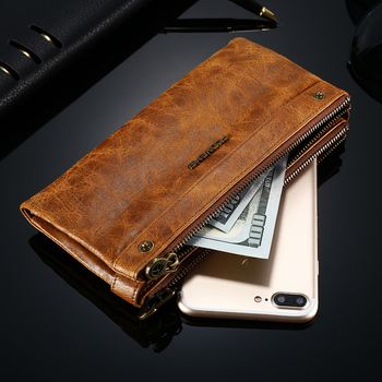FLOVEME Luxury Leather Wallet Case for iPhone 7 7 Plus 6 6s SE 5S for Samsung S7 S5 J5 Vintage Case Zipper Purse Card Hand bag