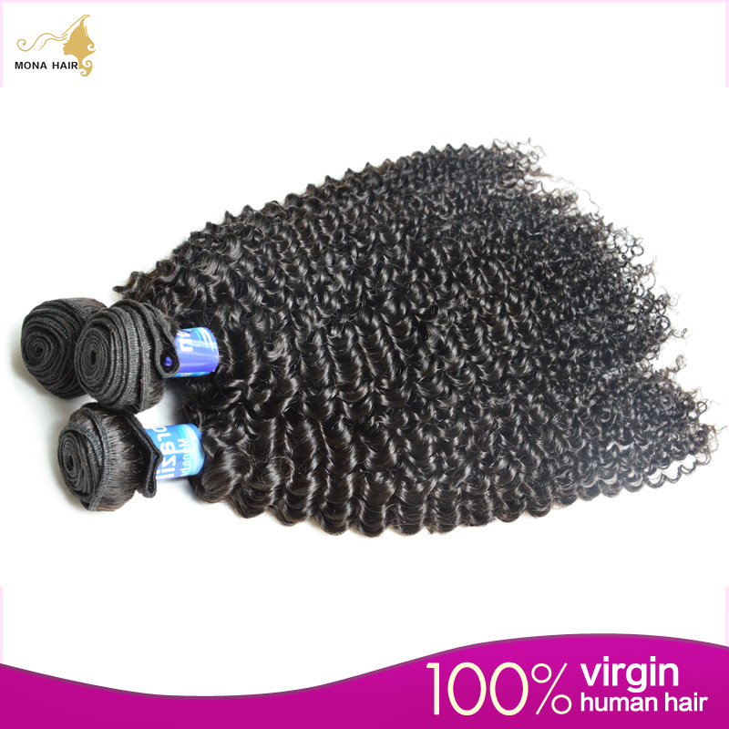 7A Grade Brazilian Kinky Curly Hair 3pcs/pack 100% Unprocessed Human Hair Kinky Curly Wave Msbeauty Hair Products<br><br>Aliexpress