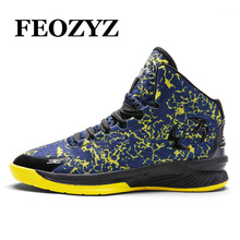 FEOZYZ Brand Basketball Shoes Men Women Sneakers Breathable Basket Homme 2017 New Mens Basketball Boots Sport Shoes Size 36-45(China)