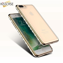 KISSCASE Luxury Glitter Bling Clear Case for iPhone 7 7 Plus Slim Diamond Deluxe Cute Coque Cover for iPhone7 7 Plus Accessories(China)