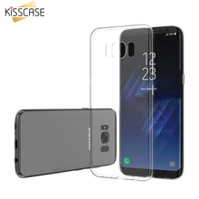 KISSCASE Ultra Thin Crystal Clear Case For Samsung Galaxy S8 S8 Plus Soft TPU Gel Silicon Rubber Phone Cover For Samsung S8 Plus