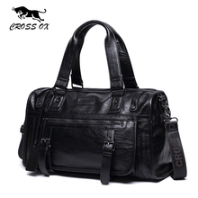 CROSS OX Autumn New Arrival Mens Handbag Big Capacity Travel Bag High Quality PU Leather Luggage Bags 14 Inch Laptop Bag HB572M(China)