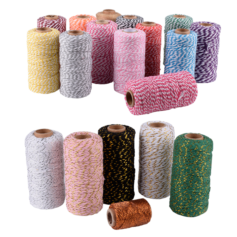 20 Colors Available Colorful Cotton Baker/'s Twine 109 yards//spool