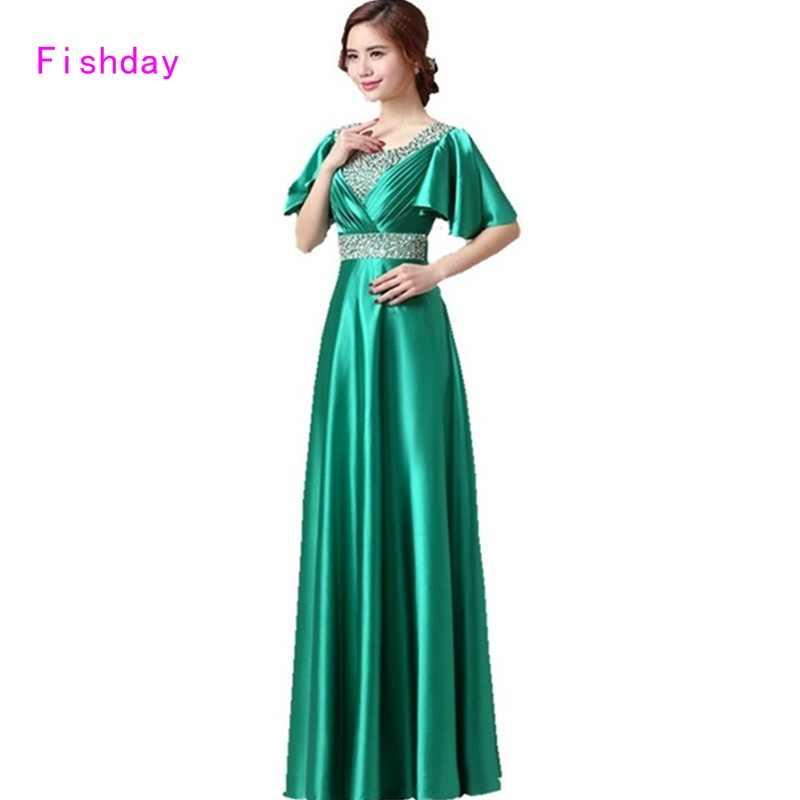 Fishday Royal Blue Emerald Green Evening Empire Purple Gowns Dresses Long  Turkish Dubai Kaftan Mother of ac3d4cbe2b6f