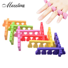 10pcs Soft Foam Nail Art Toe Separators Orthedontic Straightening Finger Feet Care Separator Nail Tools