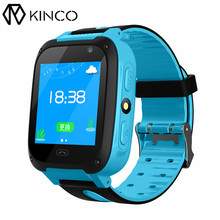 KINCO 1.44 inch TFT Color Screen SOS Position Call LBS Locator Support Camera SIM Card Children Phone Kids Security Smart Watch(China)