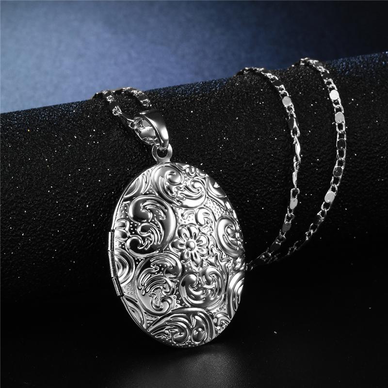 CWEEL Necklaces & Pendants Women Chain Vintage Long Necklace With Big Pendant Gold Color Fashion Statement Necklace  (1)