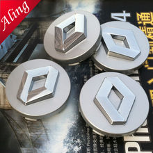 SHUAIZHONG 4pcs Hot sale 60mm Silver logo car emblem Wheel Center Hub Cap badge covers styling Free shipping(China)