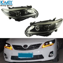 Head Lights Lamps Driver Passenger Side For 2011 2012 2013 Toyota Corolla Sedan(China)