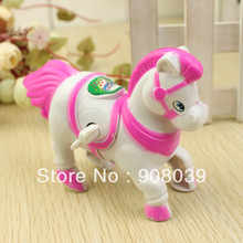 low price wholesale lovely White horse wind up toys educational clockwork toy(China)