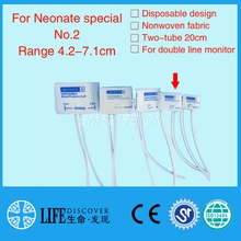 Disposable NIBP Cuff TPU film coat for neonate purpose double tube NO.2,without connector(China)