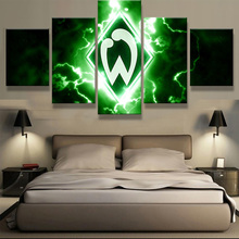5 Panel/Set SV Werder Bremen Sports Football Print Painting On Canvas Modern Home Pictures Prints Living Room Deco Fans Posters