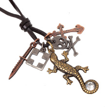 QN New Product Restore Ancient Ways Pendant House Lizard Stroll Pendeloque Cut Ornaments Small Commodities Mixed Batch