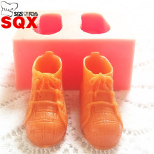 Russia one pair of 3D shoes silicone mold, silicone cake mold, shoes silicone mold,  cake decorating tools SQ14177