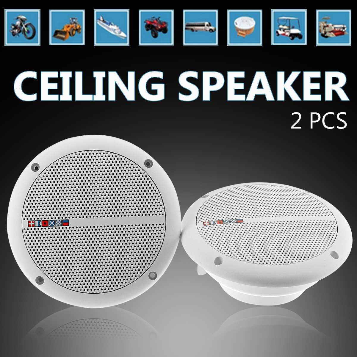 "Pair 6.5/"" 2-Way Flush Mount In Wall Ceiling Speaker Waterproof Home Theater US"