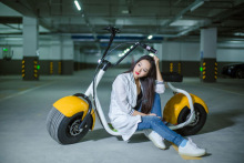 NO TAX wide tire e-bike harley citycoco off-road electric scooter moped 1000W SEEV motorcycle vehicle 2 people seat optional