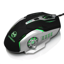 2017 New 3200DPI Wired Macro Programming Gaming Mouse USB Optical Gamer Game Mice for Computer Laptop PC CS Dota LOL Bloody(China)
