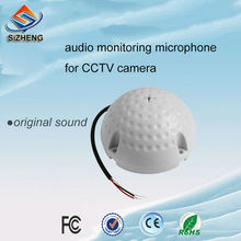 SIZHENG cctv audio monitoring high sensitivity -35dB sound pickups smart dome security camera microphone