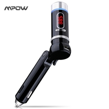 Mpow handsfree Wireless Bluetooth FM Transmitter built in CSR chipset Handsfree Calling Radio Adapter Music Speaker for Car(China)