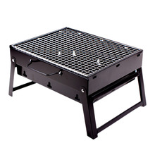 Portable Cmping Grill Folding Charcoal BBQ Grill Stainless Steel Simple Picnic Barbecue Rack 35*27*20cm