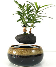 fashion garden Flower Pots Planters magnetic levitation air bonsai (no plant)ceramic pot culture 167 free shipping
