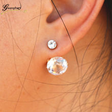 Crystal Stud Earrings For Women Wedding & Engagement Jewelry Oorbellen Brincos Pendientes boucle d'oreille Bijoux(China)