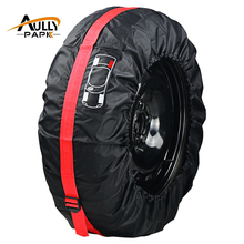 Car Spare Tyre Cover Garage Tire Case Auto Vehicle Automobile Tire Accessories Summer Winter Protector Tire Storage Bag(China)