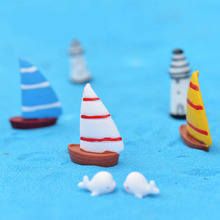 3pcs Simulation Sail Boat Moss Micro landscape Craft Ecological Bottle Decor DIY Assembly Decor Aquarium Ornaments Home Garden(China)