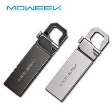 Moweek M16 Metal USB Flash Drive Real Capacity 4g 8g 16g USB stick Waterproof pendrive 32 gb 64gb 128gb usb 2.0 Key flash disk(China)