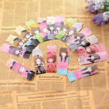 9 pcs/lot Cute Kawaii Cartoon PVC Bookmark Lovely Girl Book Marks For Books School Supplies Free Shipping 2434