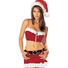 Hot Sale 2015 Fashion Santa Costumes For Women Sexy Fur Trim Mrs Santa Clause Costume Girls Christmas Costume Fancy Cosplay