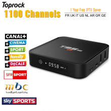 1 Year Europe French Arabic IPTV Quad Core S905 Android 6.0 TV Box T95M with iprotv Account 1300 Live TV Canal plus Free test