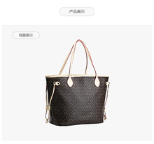 Free shipping Classic Women Shopping Bag never Fashion Brand Monogram Canvas full Handbags Shoulder real leather Bagsa