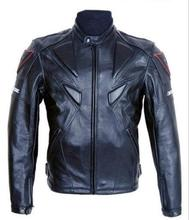 Free shipping Men PU jacket, professional racing jacket motorcycle jacket motorcycle delivery 5 sets of protective gear