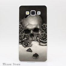 3145CA Skull and Roses Transparent Hard Cover Case for Galaxy A3 A5 A7 A8 Note 2 3 4 5 J5 J7 Grand 2 & Prime