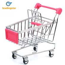 LeadingStar Mini Supermarket Shopping Cart Decoration, Storage box, Cellphone Holder, Creative Novelty Gift Pink zk15(China)