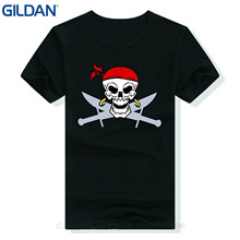 GILDAN The New Printing Cotton Casual Short Sleeve Tees Personalized Custom Buccaneer Printed T-shirt Buccaneer Skull Black Xxl(China)