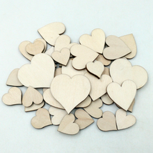 wooden heart confetti mixed 20/30/40mm for Craft Wedding Party favor baby shower DecorDIY table crakers scatter sprinkles Wh(China)