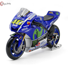 1/10 YAMAHA YZR-M1 Rossi Moto GP 2016 Rossi Motorcycle Bike Model NO.46 Diecast Motorbike Kids Toys Gifts F Children