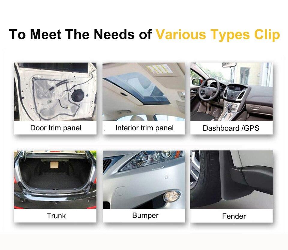 50x U-Type Clip Spring Plate Car SUV Dashboard Panel Fender Screw Speed Fastener