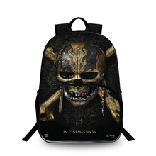 BAOBEIKU 3D Backpacks Fashion Print Pirates Character Bags For Childrens School Laptop Kids Backpack Dropshipping