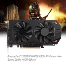 Buy Video Graphics Card GTX750TI 1GB GDDR5 192Bit PCI-Express Video Gaming Card NVIDIA GeForce Dual Cooling Fans for $42.88 in AliExpress store