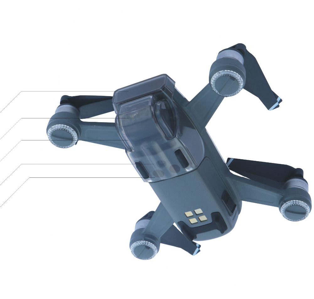 Quick Mount Integrated 5 in 1 Cover for SPARK Gimbal/ Camera/ Front 3D Sensor System Screen Protector Dustproof Bumprooof