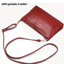 genuine leather bag small women leather handbags red purses female messenger bag 2017 luxury fashion woman crossboday bags(China)
