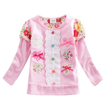 Retail T-shirts for Girls Long Sleeve t-shirt Baby T Shirt Child Clothes Wear Top Cartoon Princess T-shirts for Kids L339 MIX(China)