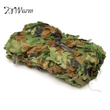 KiWarm Excellent 3x5m Hunting Camping Jungle Camouflage Net Mesh Woodlands Blinds Army Military Camouflage Camo Net Garden Cover