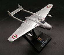 Value rare LEO 1: 100 Italian Air Force DH100 Vampire Jet fighter Alloy aircraft model Collection model Holiday gifts