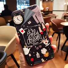 SZYHOME Phone Cases for IPhone 6 6s 7 Plus Case Alice Princess Discounted for IPhone 7 Plus Embossment Mobile Phone Cover Capa 8