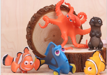 Factory Price DHL500pcs/100set Cartoon Movie Finding Nemo figures Clownfish Fish PVC Action Figure Toys